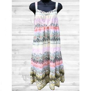 Sonoma   Pastel Maxi Dress   Size XL